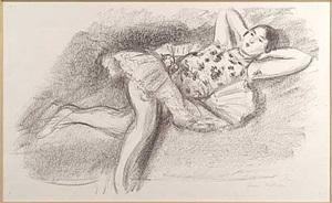 danseuse étendue au divan [mains à la nuque] by henri matisse